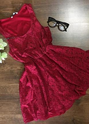 Платье кружевное, короткое! new look