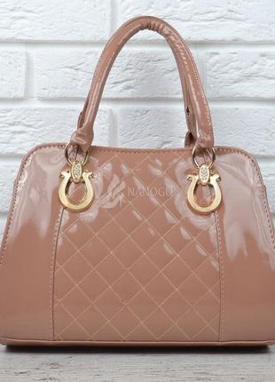 Сумка женская каркасная бежевая пудра лакированная stephanie карамельная  пудровая сумочка1 ... 435ef51c07b