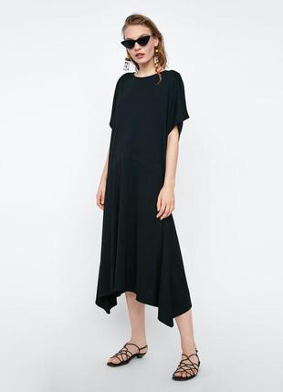 Стильное базовое миди платье от zara - р-р с - можно на с, м