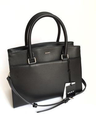 Идеальная черная сумка dkny! новая, оригинал! натуральная кожа!