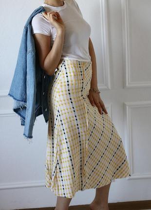 Жаккардовая юбка миди  от  zara