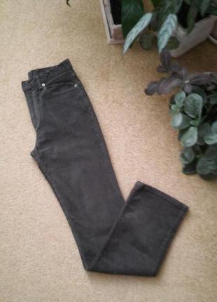 Вельветовые джинсы оливкового цвета, унисекс