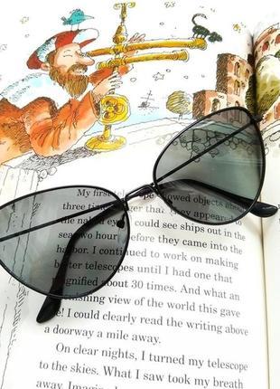 Очки.солнцезащитные очки.очки кошачий глаз.овальные очки.имиджевые очки