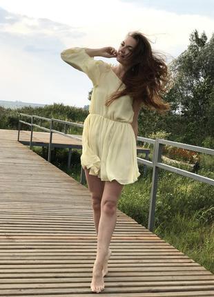 Нежное шифоновое платье topshop