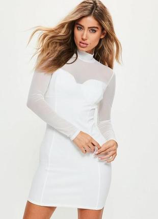 Стильное платье миди от  missguided сетка