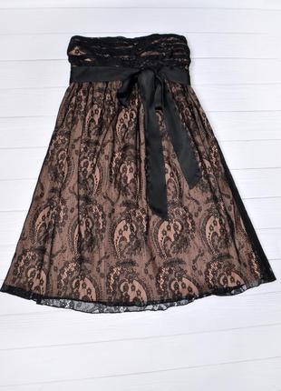 Нарядное гипюровое платье miss selfridge, размер 36