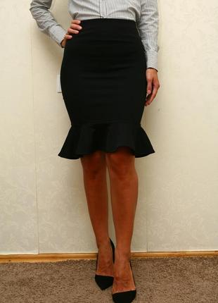 Классическая юбка,черная юбка,юбка миди,юбка карандаш