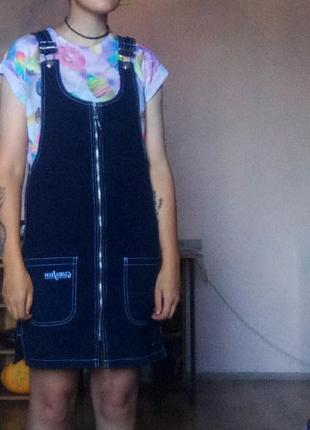 Джинсовый сарафан-комбинезон gloria jeans