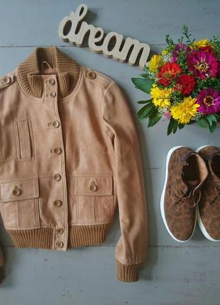 Кожаная укороченная курточка №11