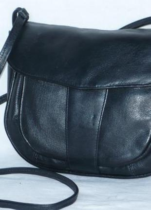 Кожаная сумка сумочка длинная ручка через плечо кросс боди