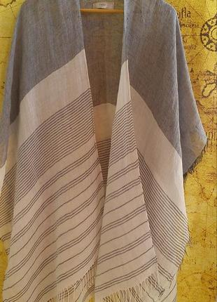 Льняной палантин/шарф/накидка,италия