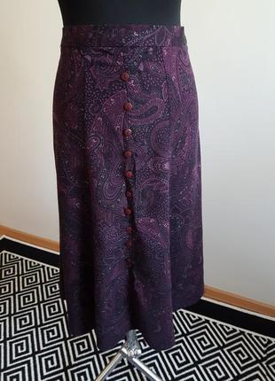 Осень юбка теплая на пуговицах