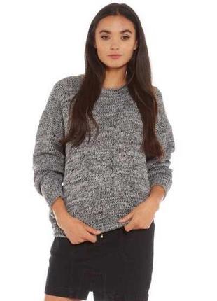 Вязанный серый свитер от george, размер 50 - 52