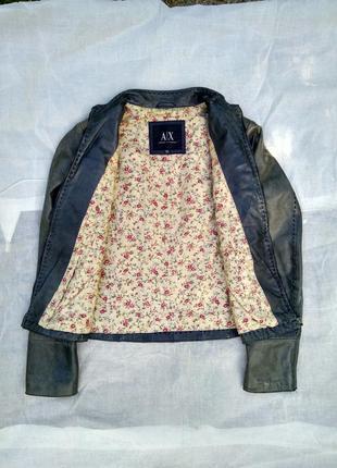 Женская кожаная куртка/серая кожанка