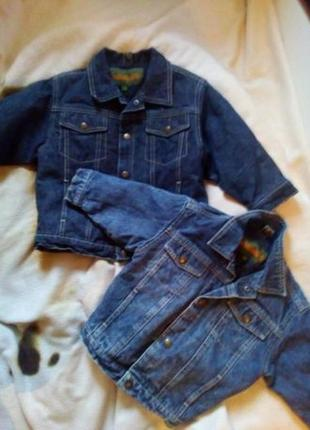 Оригинал timberland куртки джинсовые ( джинсовки для погодок)цена за 2