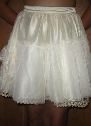 Воздушная юбка из фатина для маленькой модницы
