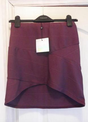Бандажная асимметричная юбка