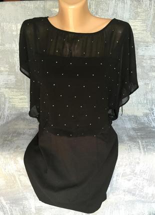 Шикарное черное платье oasis