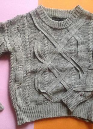 Тёплый свитер с косами atmosphere/primark