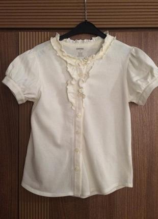 Хлопковая блуза с коротким рукавом, от американского бренда gymboree, 7 лет