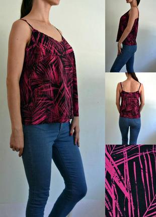 Базовая легкая блуза на тонких бретелях ,топ ,майка