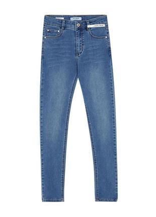 Высокие джинсы скинни от pull and bear