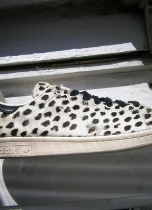 Кеди adidas stan smith pony hair (white   black) Adidas dc5e031b5ff39