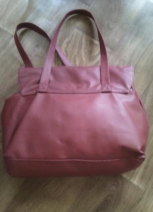 Бордовая сумка2 фото