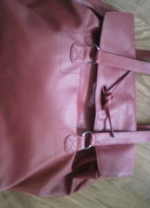 Бордовая сумка4 фото