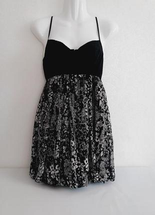 Туника мини платье с бюстье юбка баллон