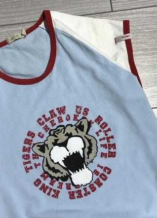 Крутая стильная футболка с тигром как  размер с