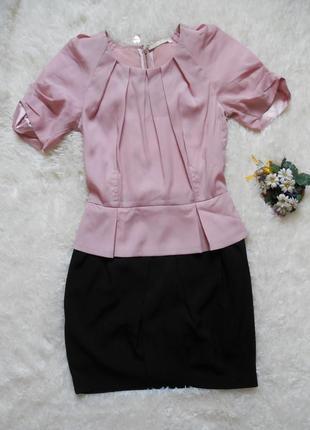 Eighth sin! очень стильное платье: нарядное, деловое,офисное. розовое, черное