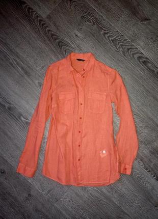 Удлиненная блузка- рубашка s/m.