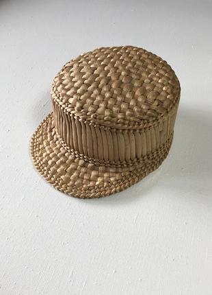 Соломенная плетеная шляпа шапка козырек панама оригинальный дизайн новая