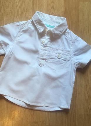Стильная рубашка для мальчика marks & spencer, р. 80-86, большемерит