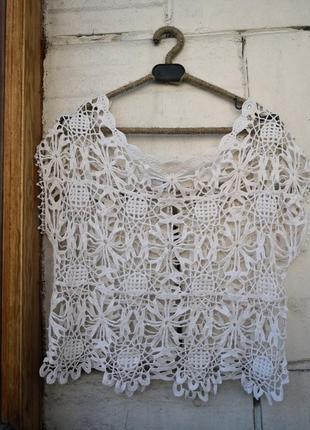 Плетёная кружевная футболка tally weijl