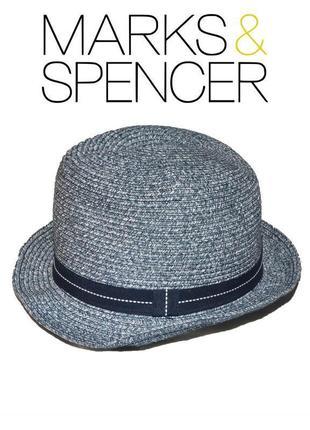 Шляпа сине-белая летняя пляжная marks & spencer