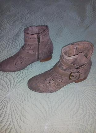Ботинки демисезонные натуральная кожа