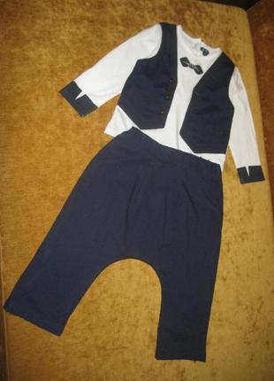 Праздничный костюм kiabi 18 мес/рост 77-82