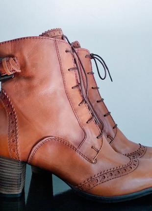 Кожаные ботинки ecco