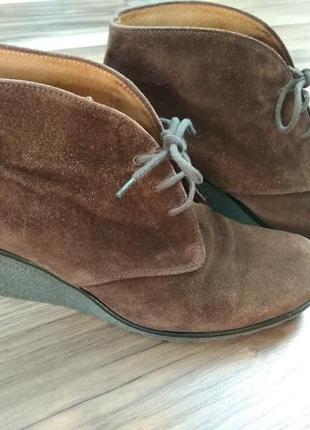 Замшевые ботиночки gabor 42 р (27,5 см).