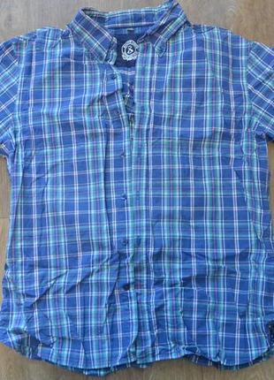 Мужская рубашка тенниска в клетку george