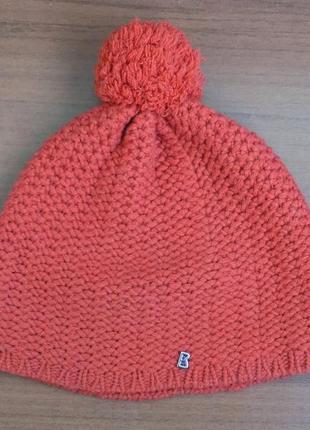 100% оригинал шапка вязаная 100% кашемир красивый оранжевый цвет  теплая
