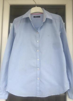 Gina tricot базовая хлопковая рубашка размер с