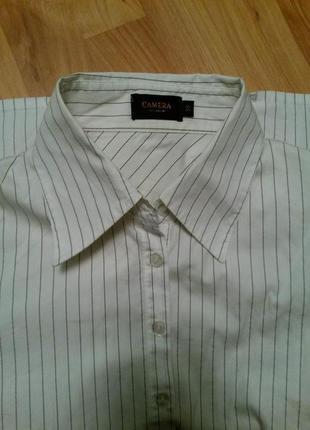 Классная рубашка в полоску на запонках