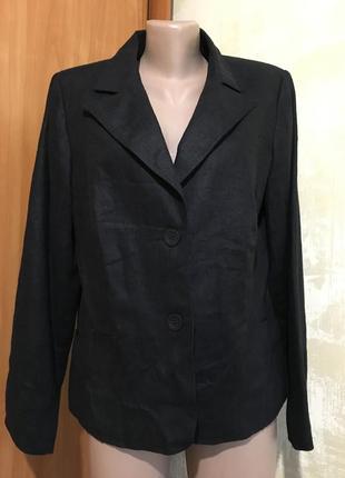 Роскошный льняной жакет,пиджак.100%лён
