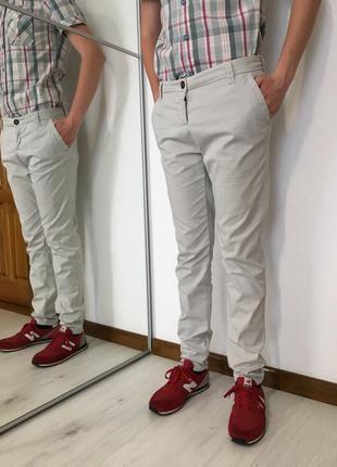 Мужские летние брюки, стильные, коттон, бренд opus