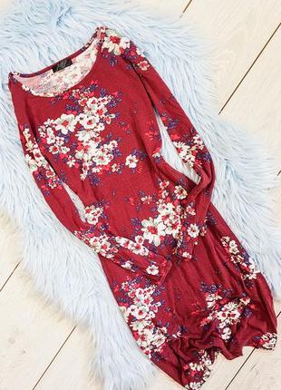 Платье-миди в цветочный принт bonprix