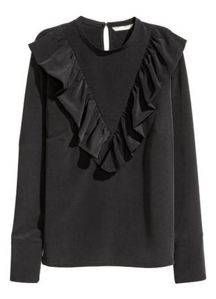 Рубашка с воланами от h&m
