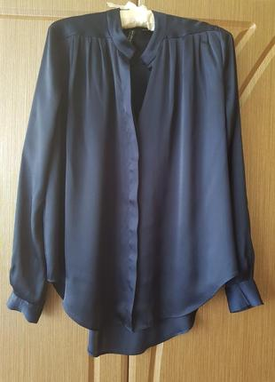 Блузка рубашка оверсайз под шелк